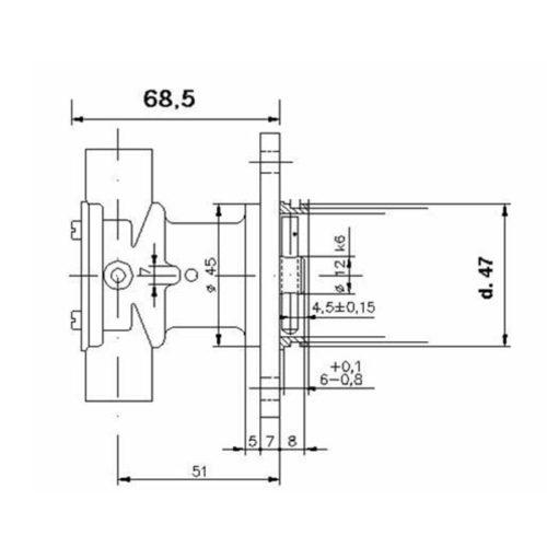 Pompe eau de mer adaptable pour moteurs BMW D7 / D12 monocylindre. BMW D7 / D12