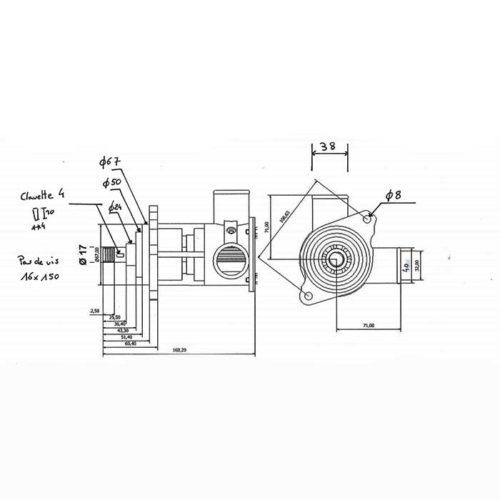 Pompe eau de mer adaptable pour moteurs Nanni    6.420 TDI / T6.300 / Z6.300    Référence pompe Nanni 48100876 Nanni 6.420 TDI / T6.300 / Z6.300