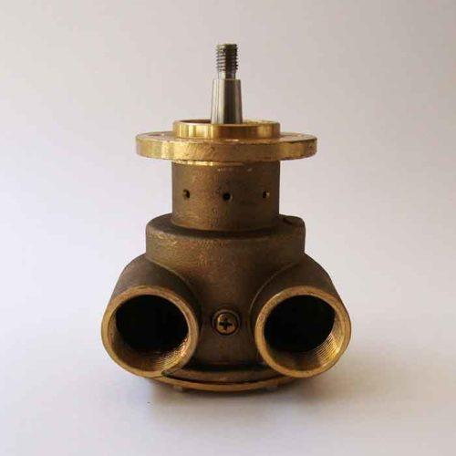 Pompe eau de mer complète avec turbine. Cette pompe se monte en lieu et place sur tous les moteurs FPT IVECO série 4341 SRM87 / 4141 SRM82    Johnson : 10-24475-02 FPT IVECO série 4341 SRM87 / 4141 SRM82